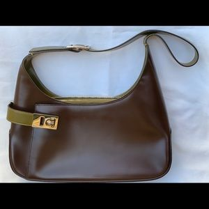 Salvatore Ferragamo handbag brown/olive AQ-21 0170